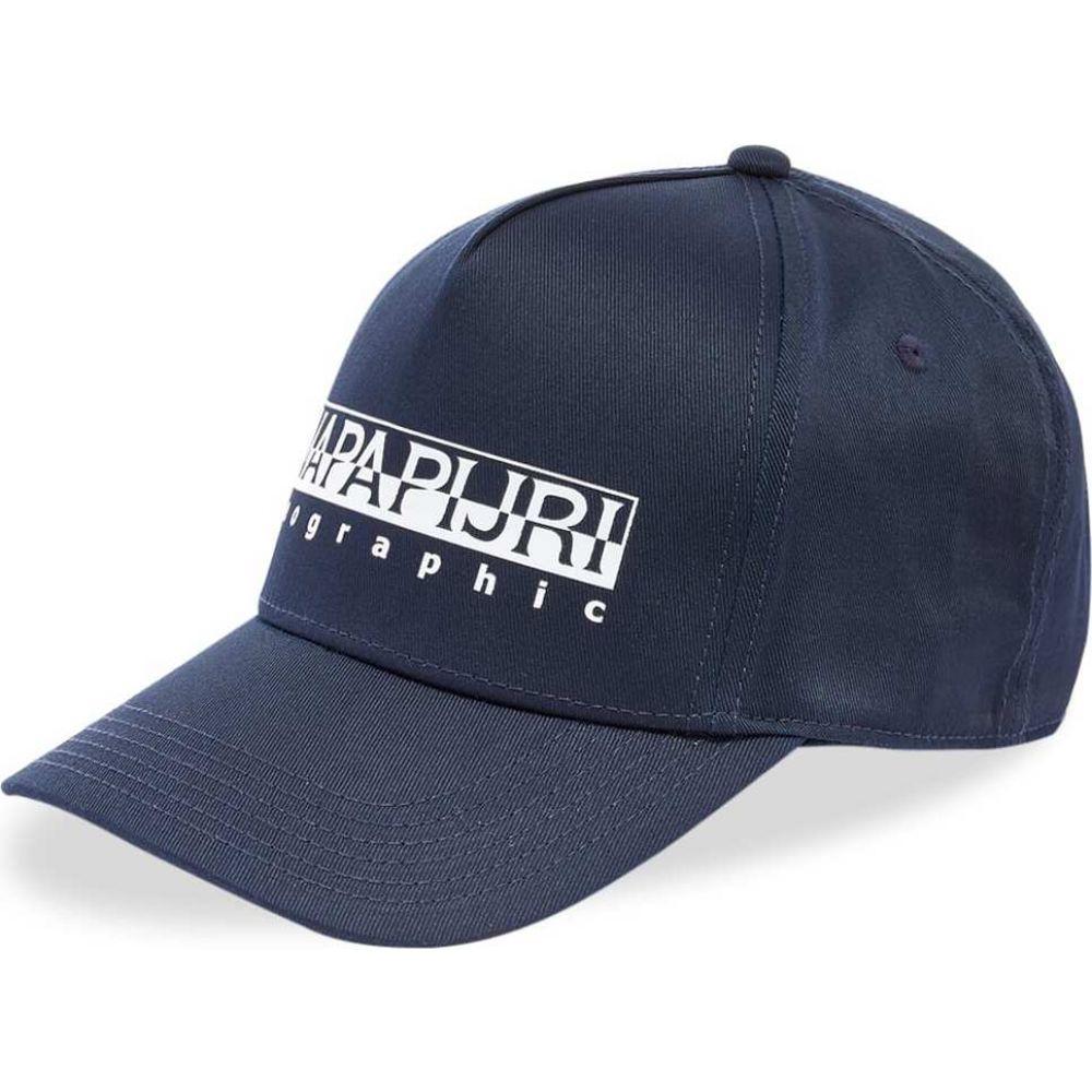 ナパピリ Napapijri メンズ キャップ 帽子【Framing 1 Box Logo Cap】Navy