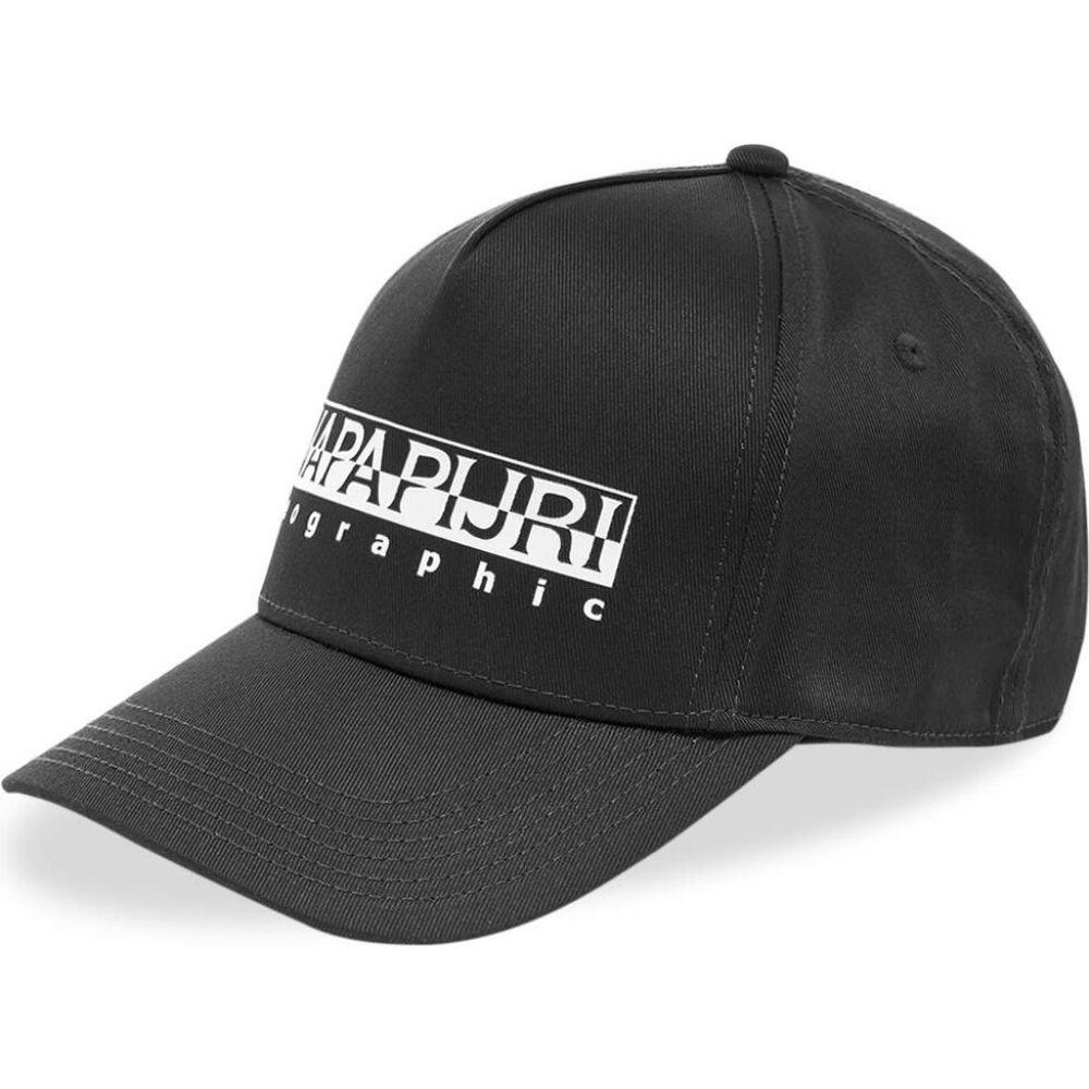 ナパピリ Napapijri メンズ キャップ 帽子【Framing 1 Box Logo Cap】Black
