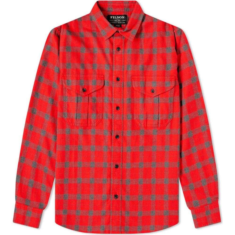 フィルソン Filson メンズ シャツ トップス【Checked Alaskan Guide Shirt】Red Plaid