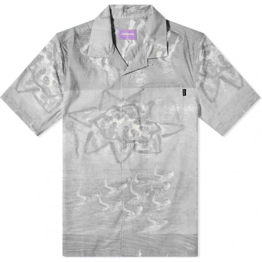 オールタイマーズ Alltimers メンズ 半袖シャツ トップス【Sync Up Button Up Shirt】Black