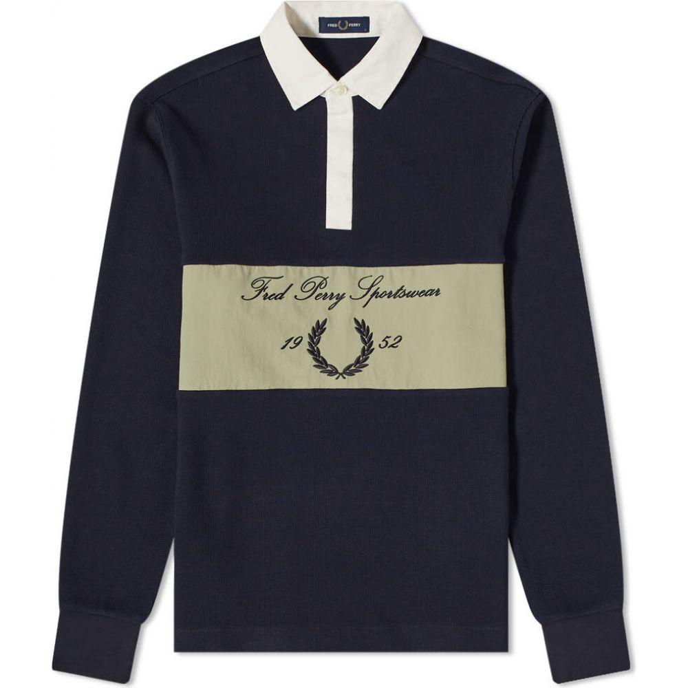 フレッドペリー Fred Perry Authentic メンズ ポロシャツ トップス【Archive Logo Rugby Shirt】Navy