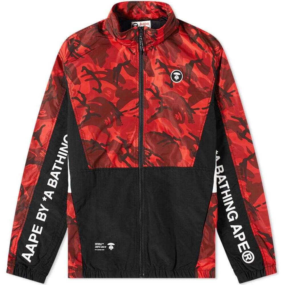 ベイシング エイプ AAPE by A Bathing Ape メンズ ジャケット アウター【AAPE Aape Racer Jacket】Red