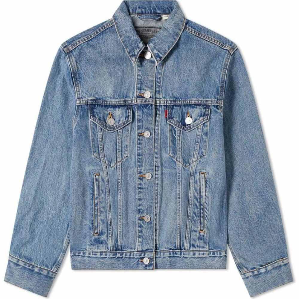 リーバイス Levis Vintage Clothing レディース ジャケット アウター【Levi's x Google Jacquard Trucker Jacket】Stonewashed
