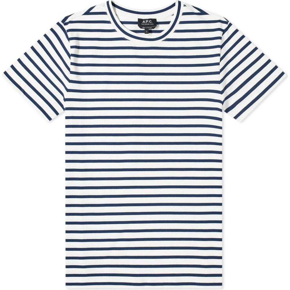 アーペーセー A.P.C. メンズ Tシャツ トップス【Michael Stripe Tee】Ecru