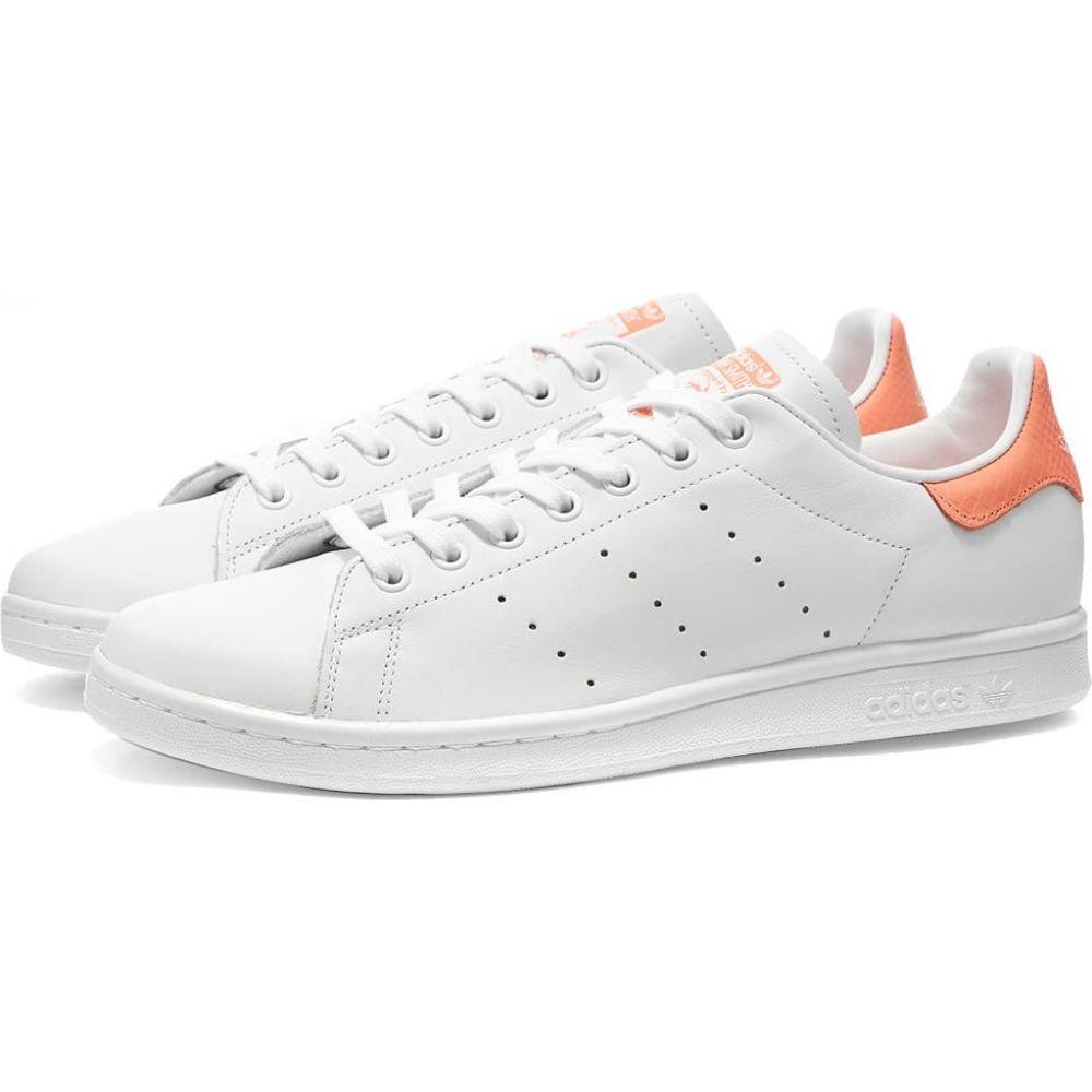 アディダス Adidas レディース スニーカー スタンスミス シューズ・靴【Stan Smith W】White/Chalk Coral