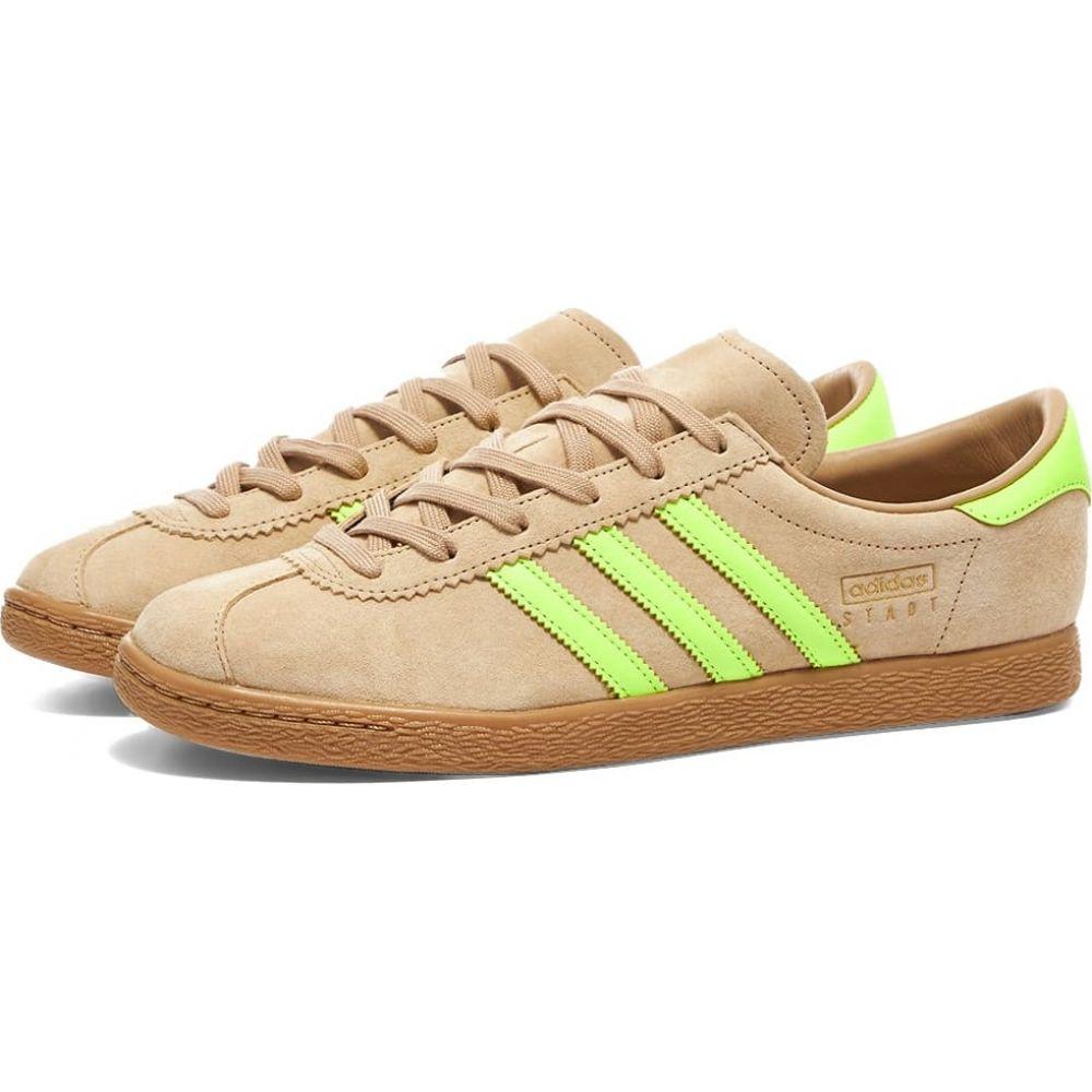 アディダス Adidas メンズ スニーカー シューズ・靴【Stadt】Pale Nude/Solar Yellow/Gum
