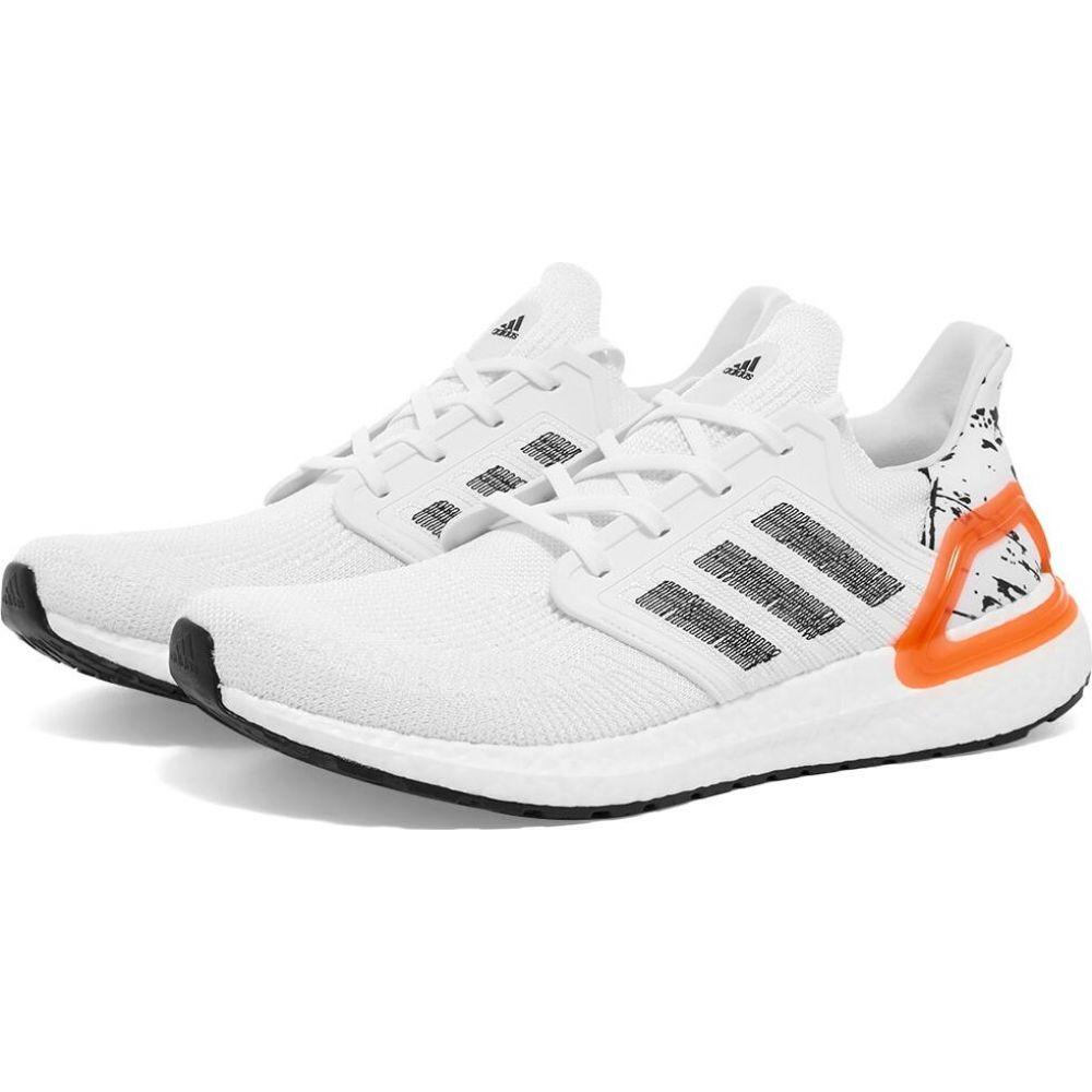 アディダス Adidas メンズ スニーカー シューズ・靴【Ultra Boost 20】White/Black/Coral