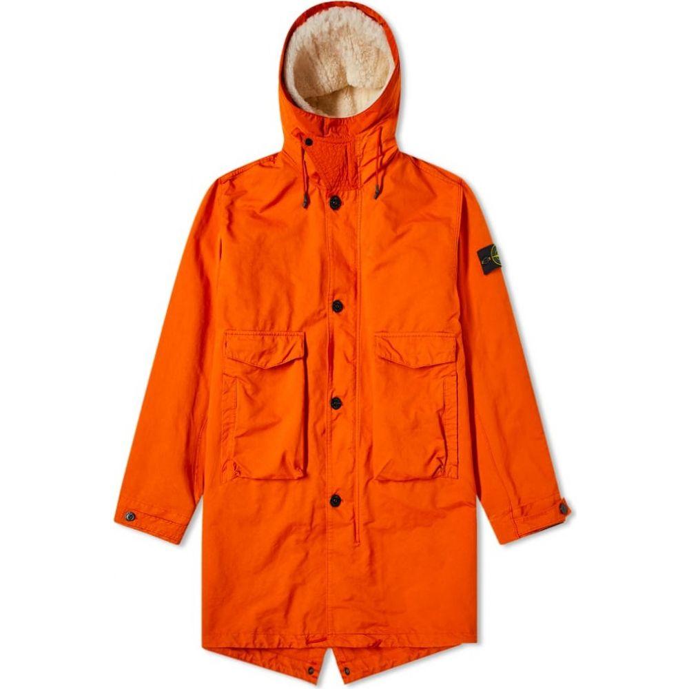 ストーンアイランド Stone Island メンズ コート アウター【blanket lined david tc fishtail parka】Orange