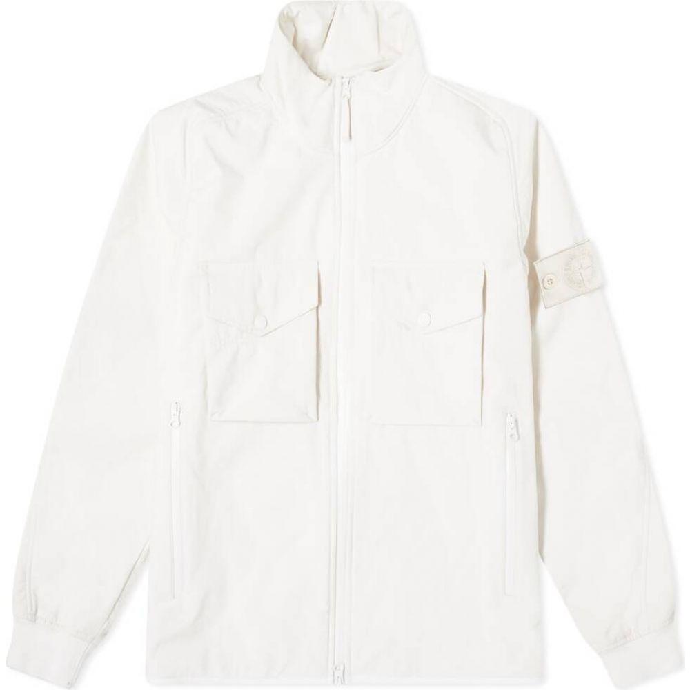 ストーンアイランド Stone Island メンズ ジャケット アウター【ghost piece jacket】White