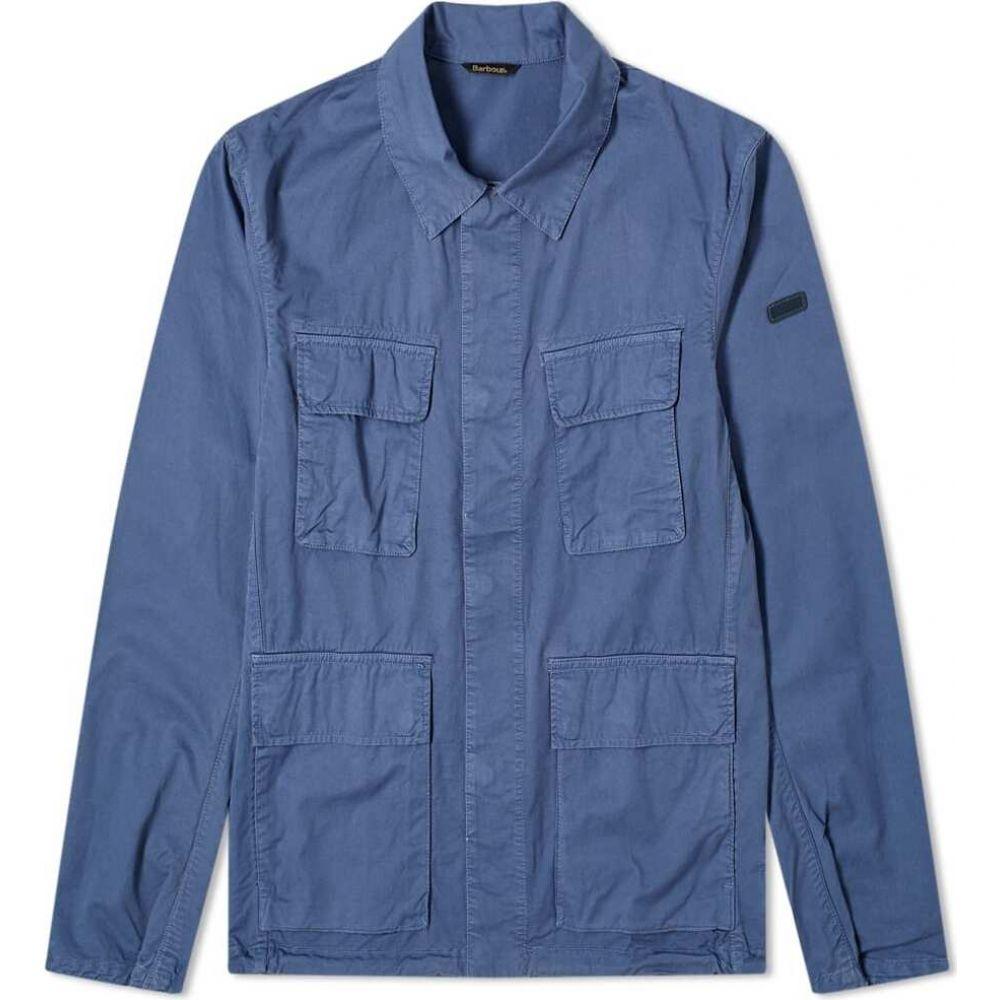 バブアー Barbour メンズ ジャケット シャツジャケット アウター【international dion casual shirt jacket】Blue Metal