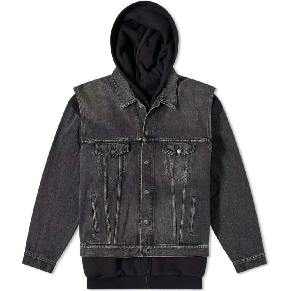 バレンシアガ Balenciaga メンズ ジャケット Gジャン アウター【japanese denim twinset jacket】Vintage Black
