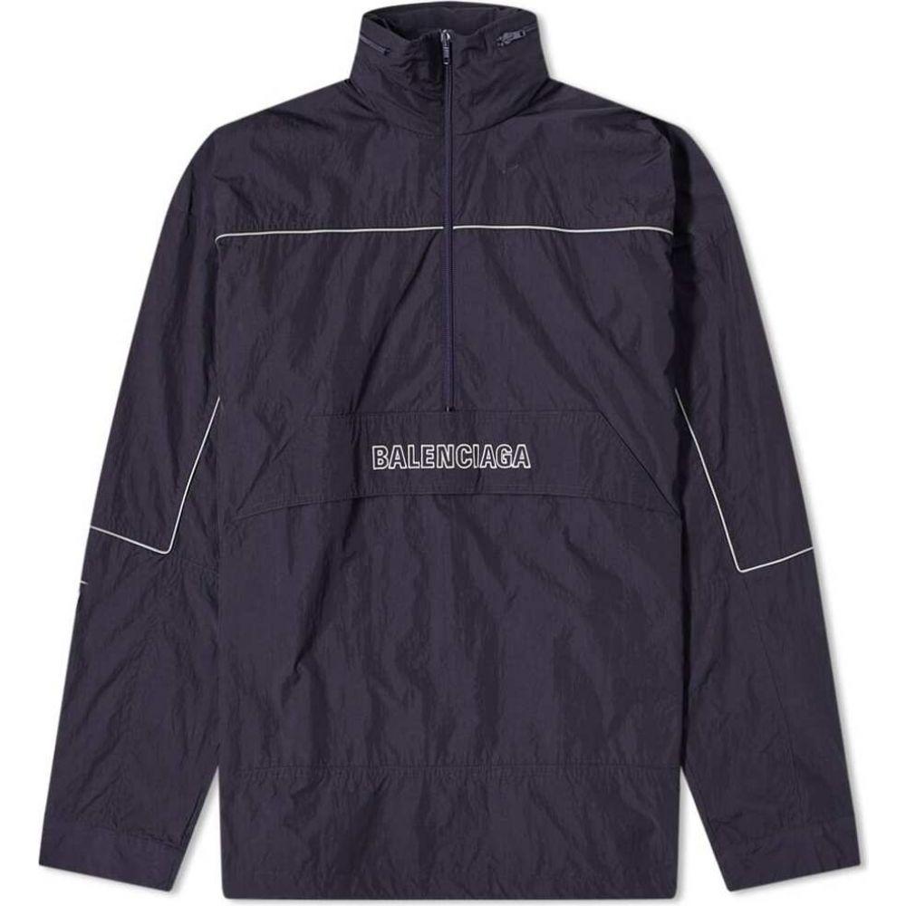 バレンシアガ Balenciaga メンズ ジャケット ウィンドブレーカー アウター【80s ripstop logo windbreaker】Navy