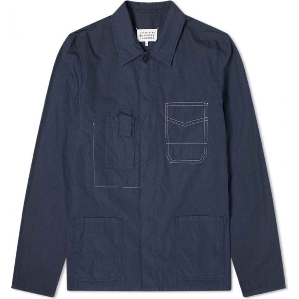 メゾン マルジェラ Maison Margiela メンズ ジャケット オーバーシャツ アウター【10 ghost pocket garment dyed overshirt】Navy