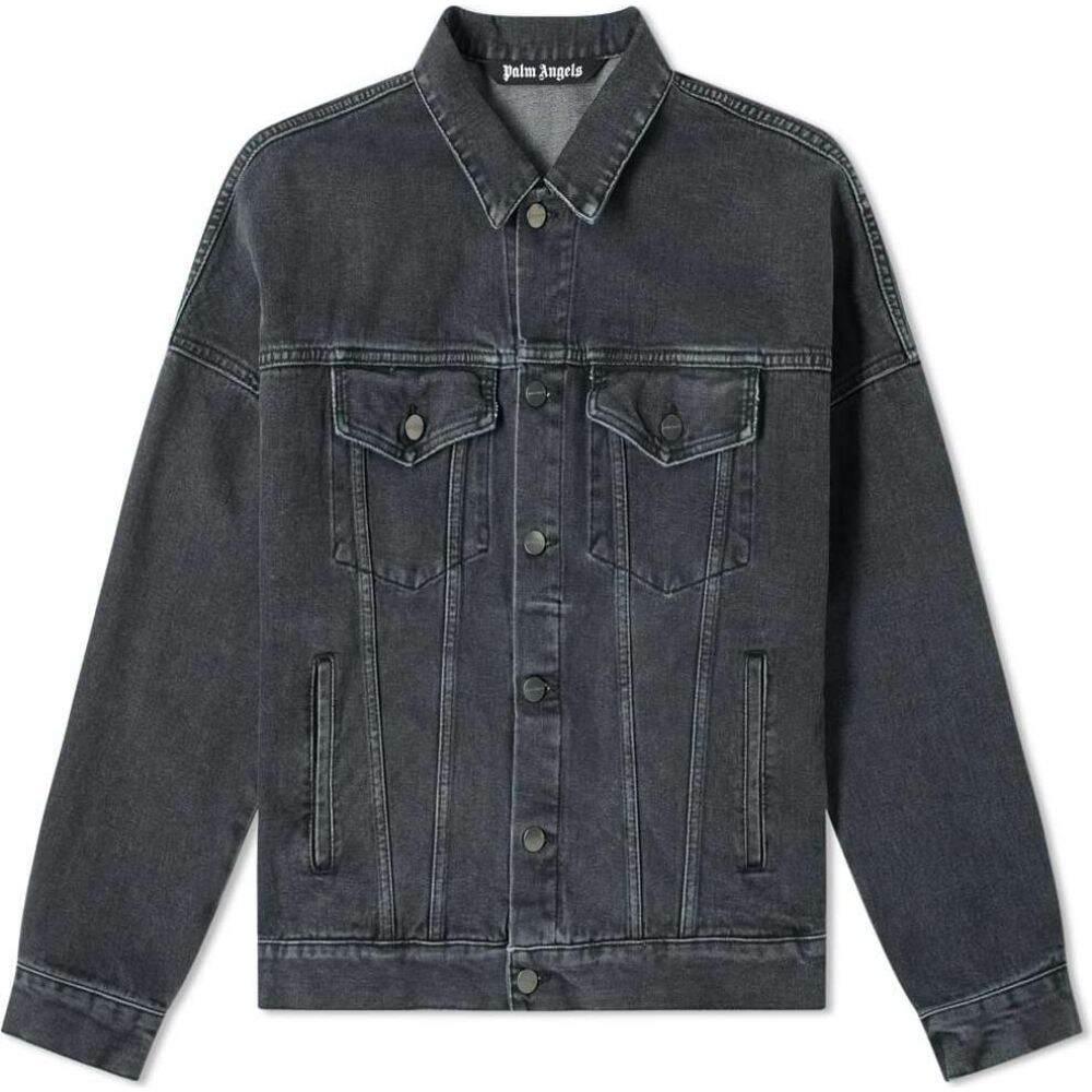 パーム エンジェルス Palm Angels メンズ ジャケット Gジャン アウター【back logo denim jacket】Black/White