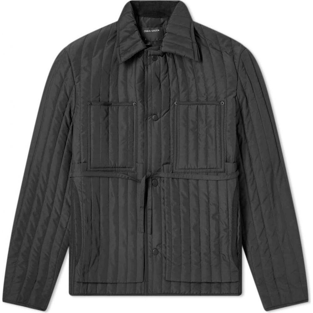 クレイググリーン Craig Green メンズ ジャケット ワークジャケット アウター【quilted worker jacket】Black