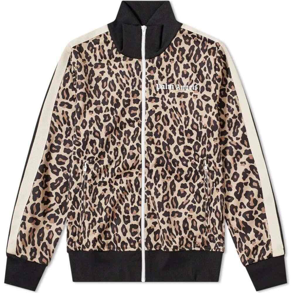 パーム エンジェルス Palm Angels メンズ ジャージ アウター【leopard print track jacket】Yellow/White