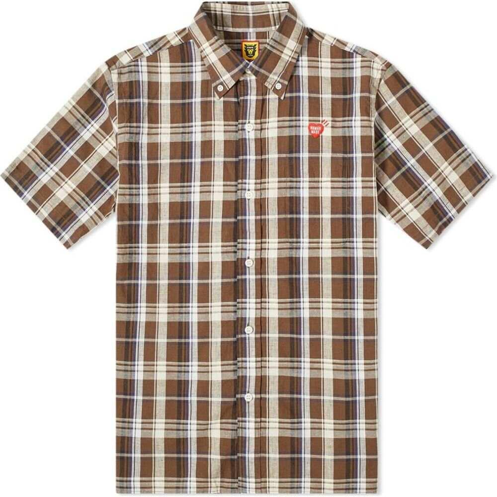 ヒューマンメイド Human Made メンズ 半袖シャツ トップス【short sleeve check shirt】Brown