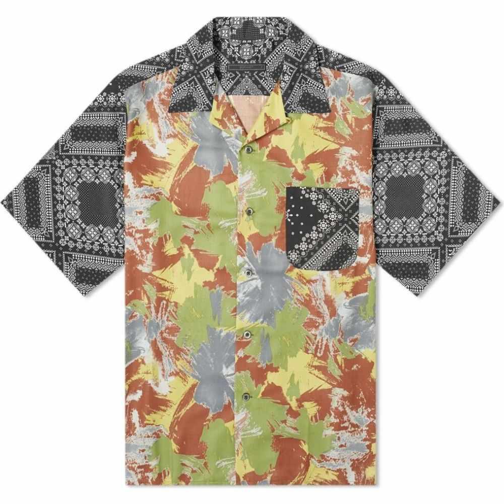 ソフネット SOPHNET. メンズ 半袖シャツ トップス【pattern mix aloha shirt】Khaki