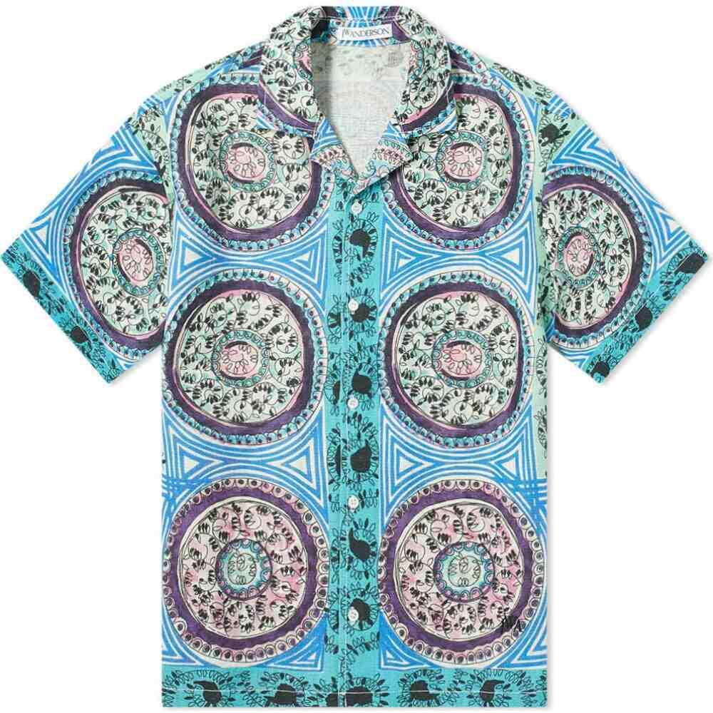 J.W.アンダーソン JW Anderson メンズ 半袖シャツ トップス【short sleeve mystic paisley shirt】Venetian