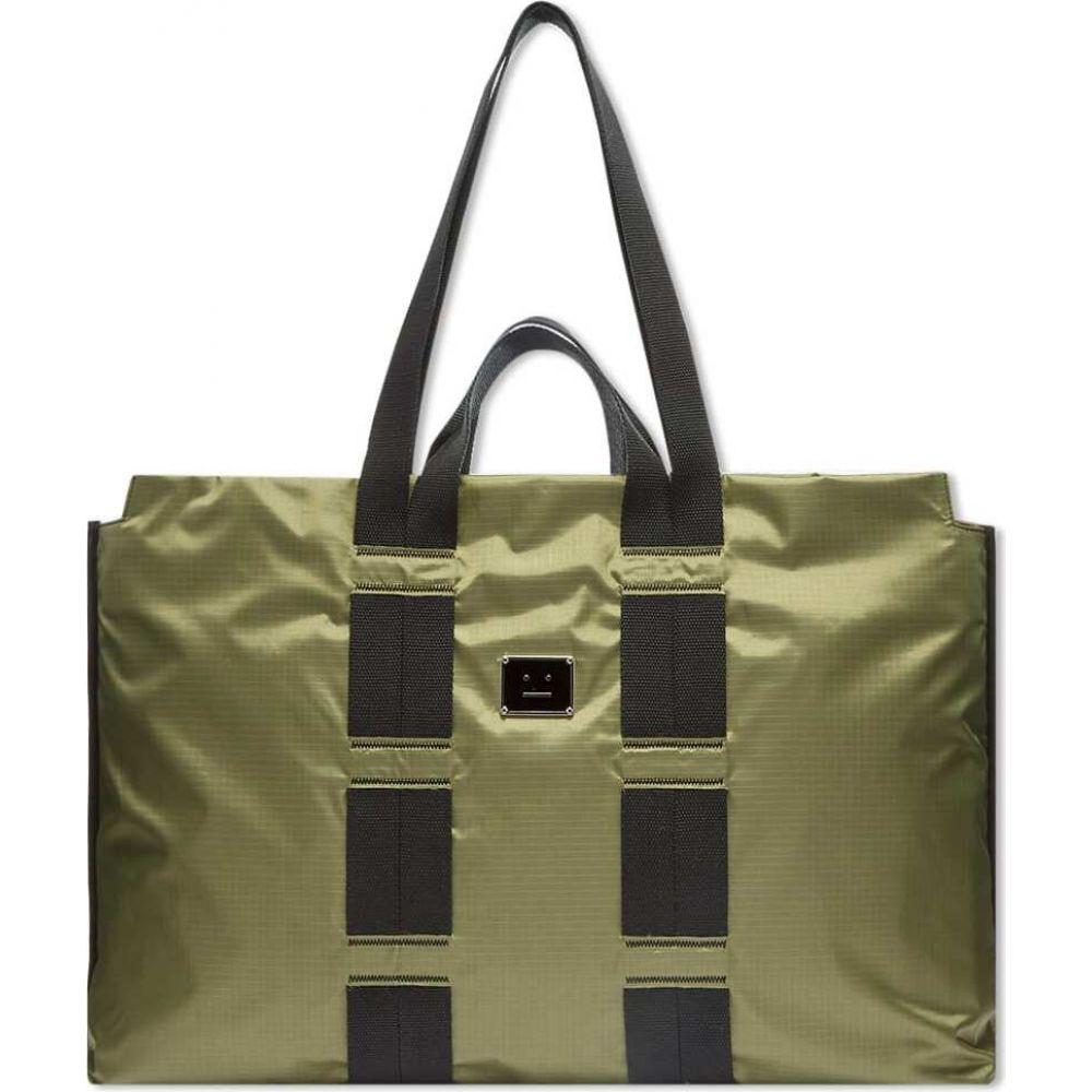 アクネ ストゥディオズ Acne Studios メンズ トートバッグ バッグ【arvid plaque face tote bag】Khaki Green
