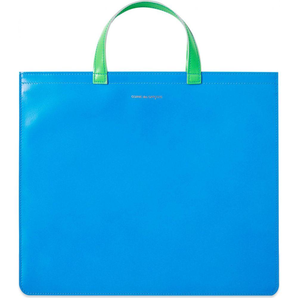 <title>コムデギャルソン メンズ バッグ トートバッグ Blue Orange サイズ交換無料 Comme des Garcons Wallet comme garcons super 使い勝手の良い fluro leather tote bag</title>