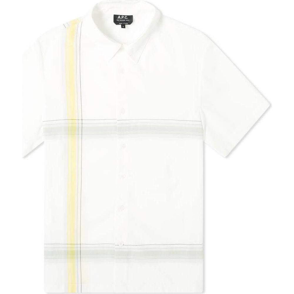 アーペーセー A.P.C. メンズ 半袖シャツ トップス【short sleeve leandre shirt】White