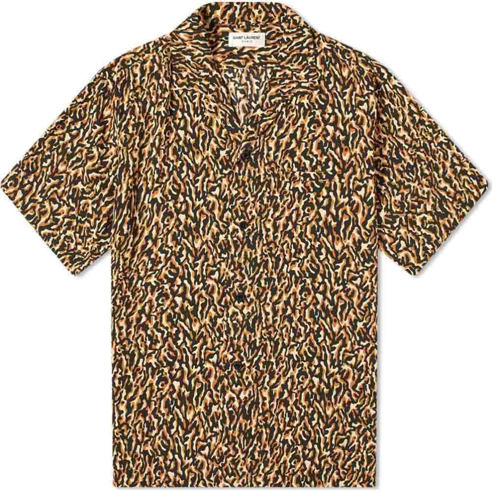 イヴ サンローラン Saint Laurent メンズ 半袖シャツ トップス【vacation shirt】Leopard