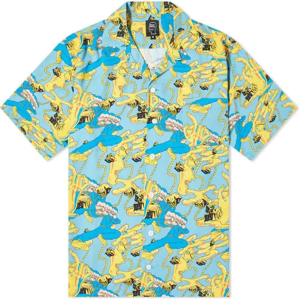 ブレインデッド Brain Dead メンズ 半袖シャツ アロハシャツ トップス【jonny negron bondage print hawaiian shirt】Blue