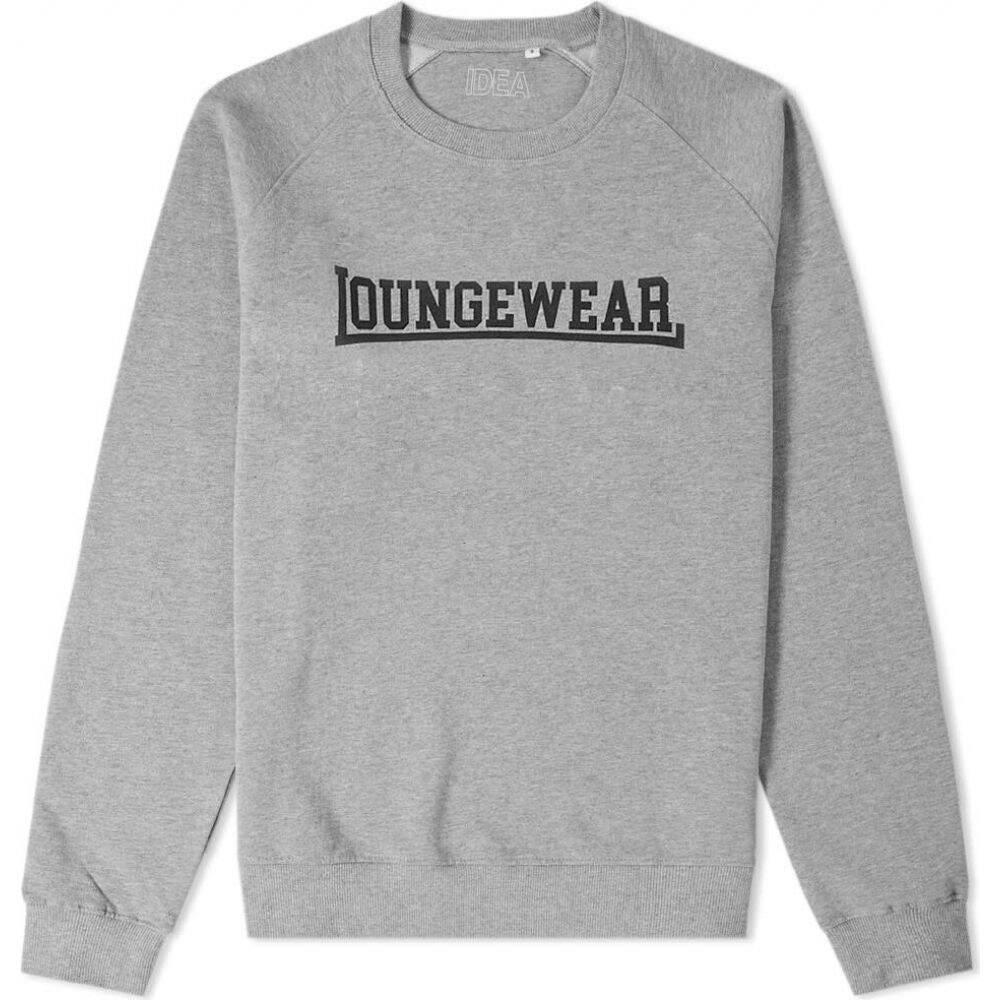 イデア IDEA メンズ スウェット・トレーナー トップス【loungewear crew sweat】Heather Grey/Black