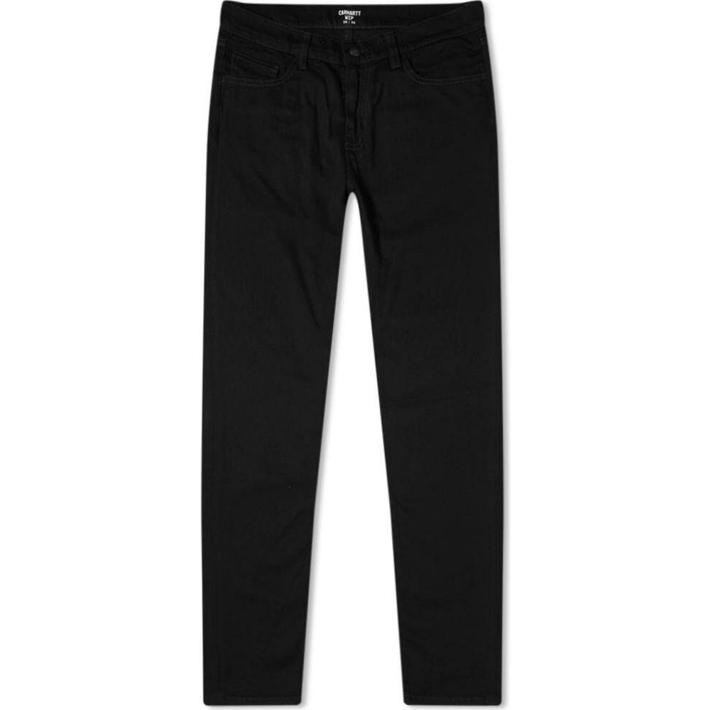 カーハート Carhartt WIP メンズ ジーンズ・デニム ボトムス・パンツ【rebel slim tapered jean】Black Rinsed