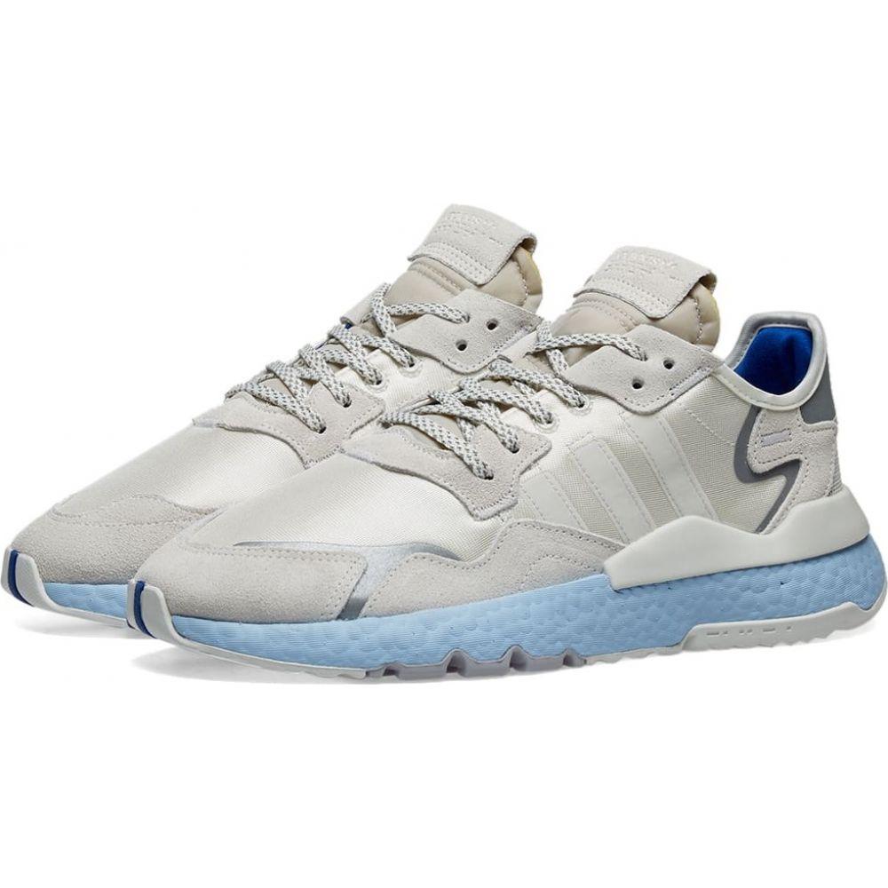 アディダス Adidas Womens レディース スニーカー シューズ・靴【adidas nite jogger w】Off White/Glow Blue