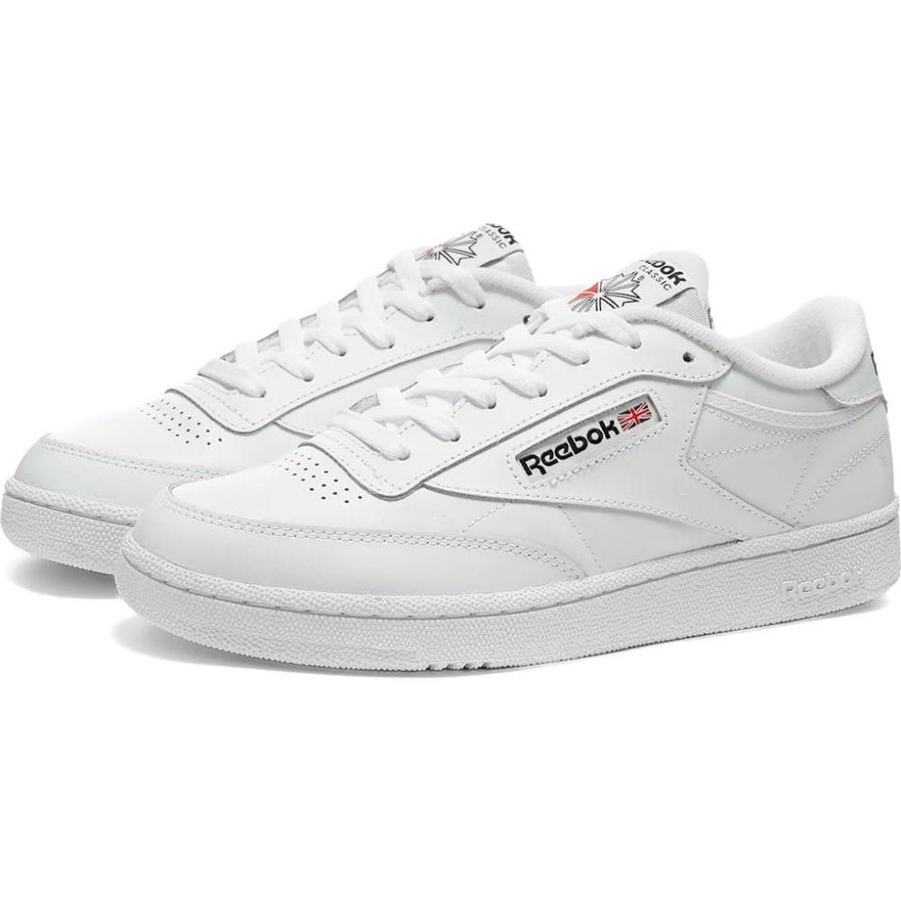 リーボック Reebok メンズ スニーカー シューズ・靴【club c 85】White/Black