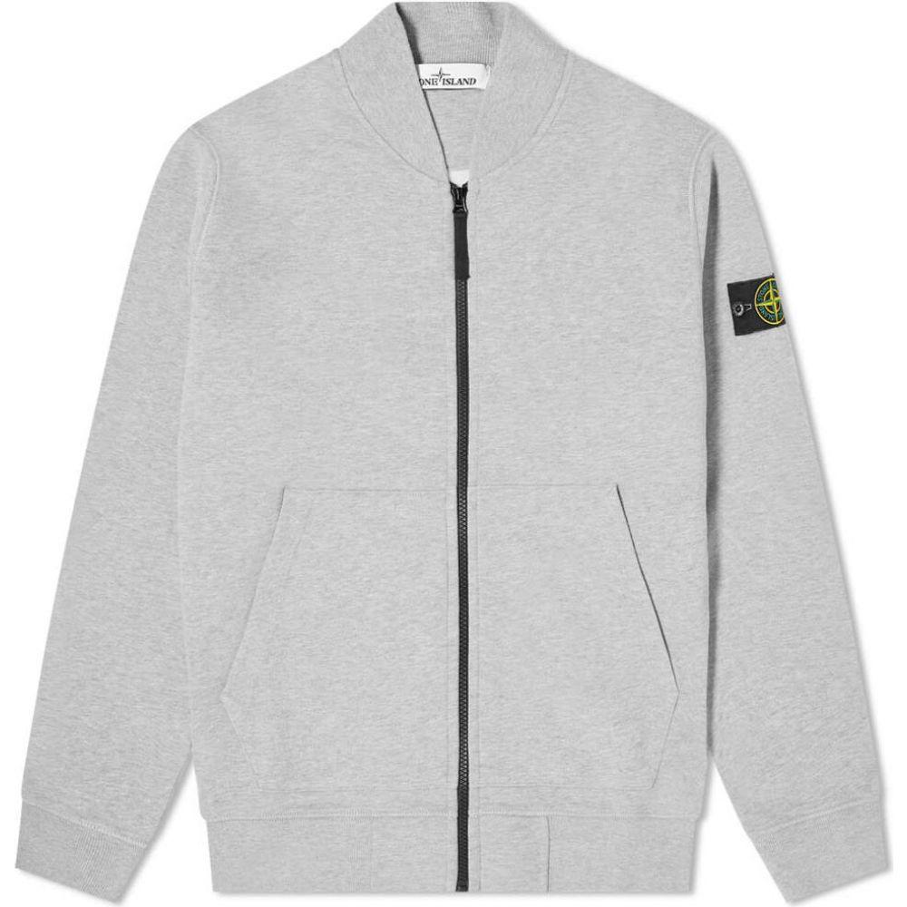 ストーンアイランド Stone Island メンズ ブルゾン ミリタリージャケット アウター【garment dyed zip bomber】Grey Marl