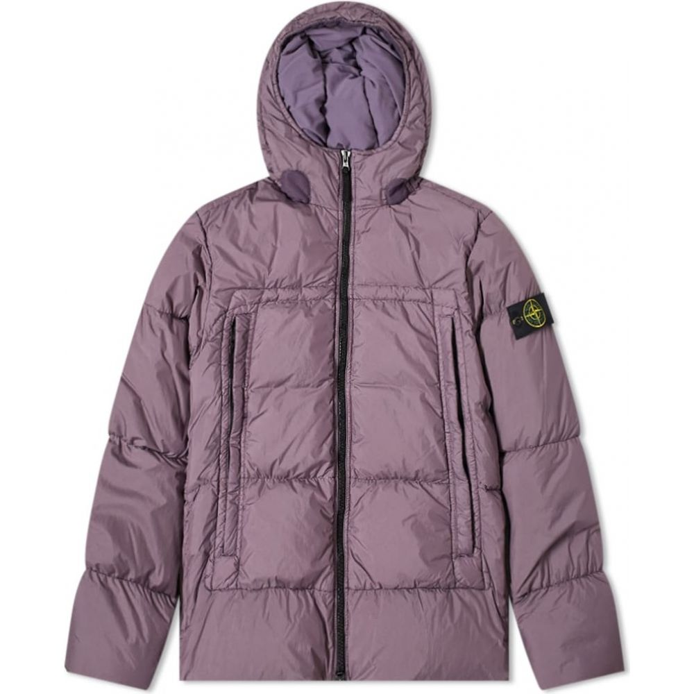 ストーンアイランド Stone Island メンズ ダウン・中綿ジャケット フード アウター【crinkle reps hooded down jacket】Mauve