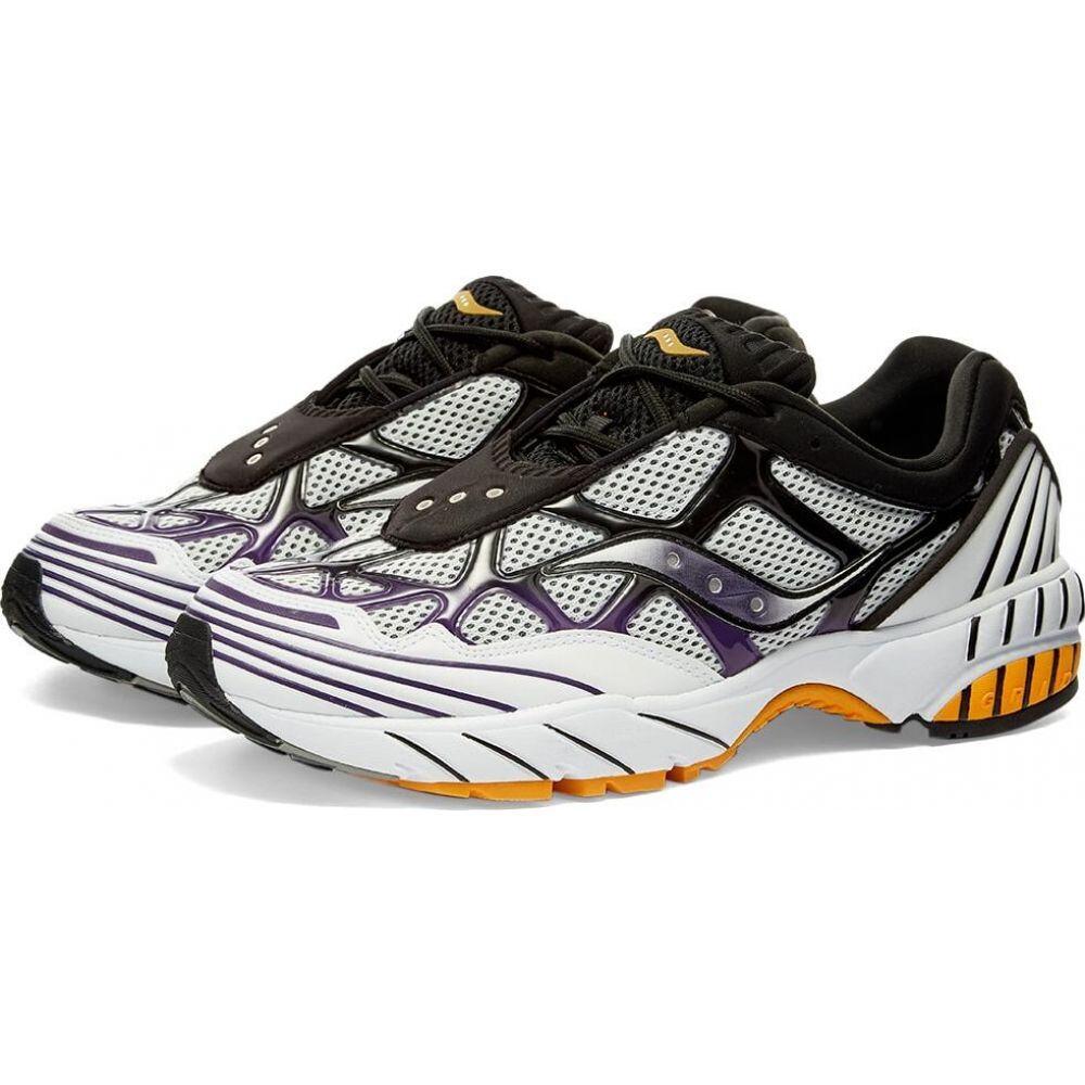 サッカニー Saucony メンズ スニーカー シューズ・靴【grid web】White/Purple/Yellow