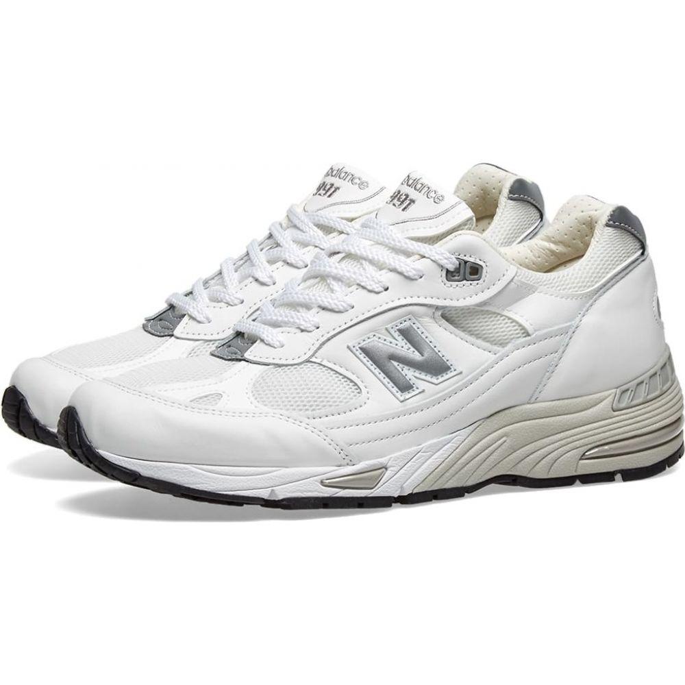ニューバランス New Balance メンズ スニーカー シューズ・靴【m991whi - made in england】White Leather