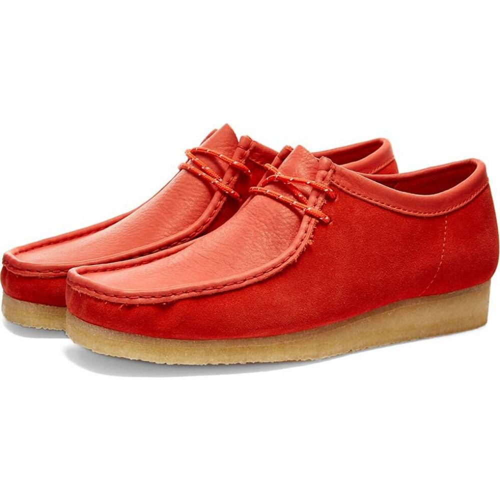 クラークス Clarks Originals メンズ シューズ・靴 【wallabee】Red Combi Suede