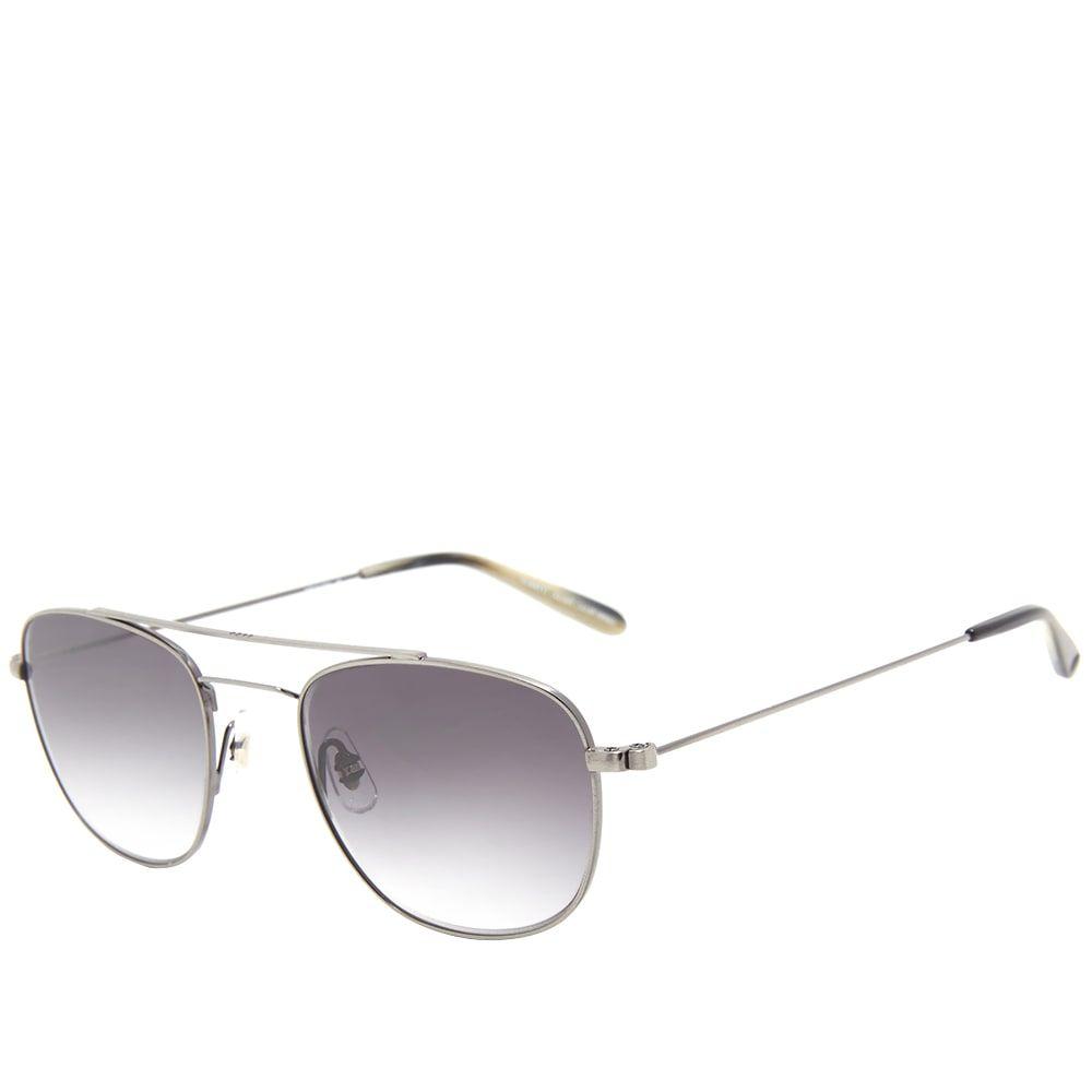 ギャレットライト Garrett Leight メンズ メガネ・サングラス【Clubhouse Sunglasses】Pewter/Flat Black Gradient