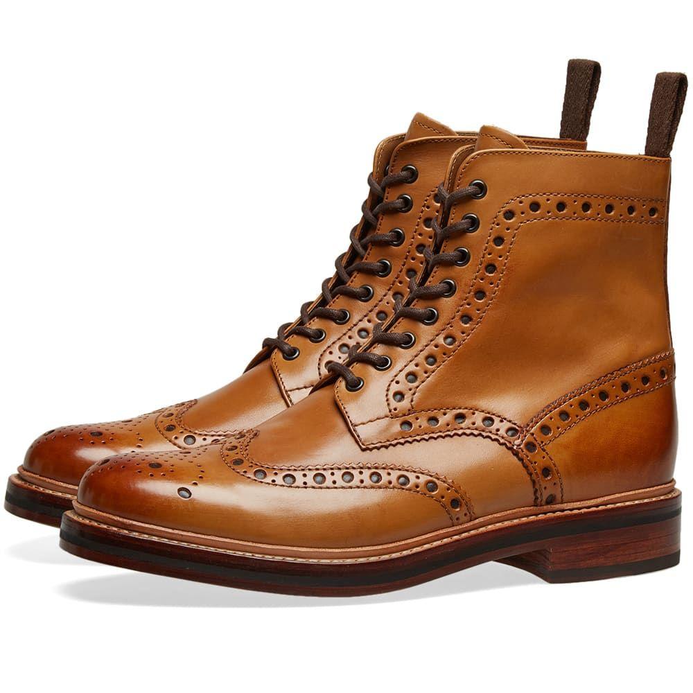 グレンソン Grenson メンズ シューズ・靴 ブーツ【Fred Brogue Boot】Tan