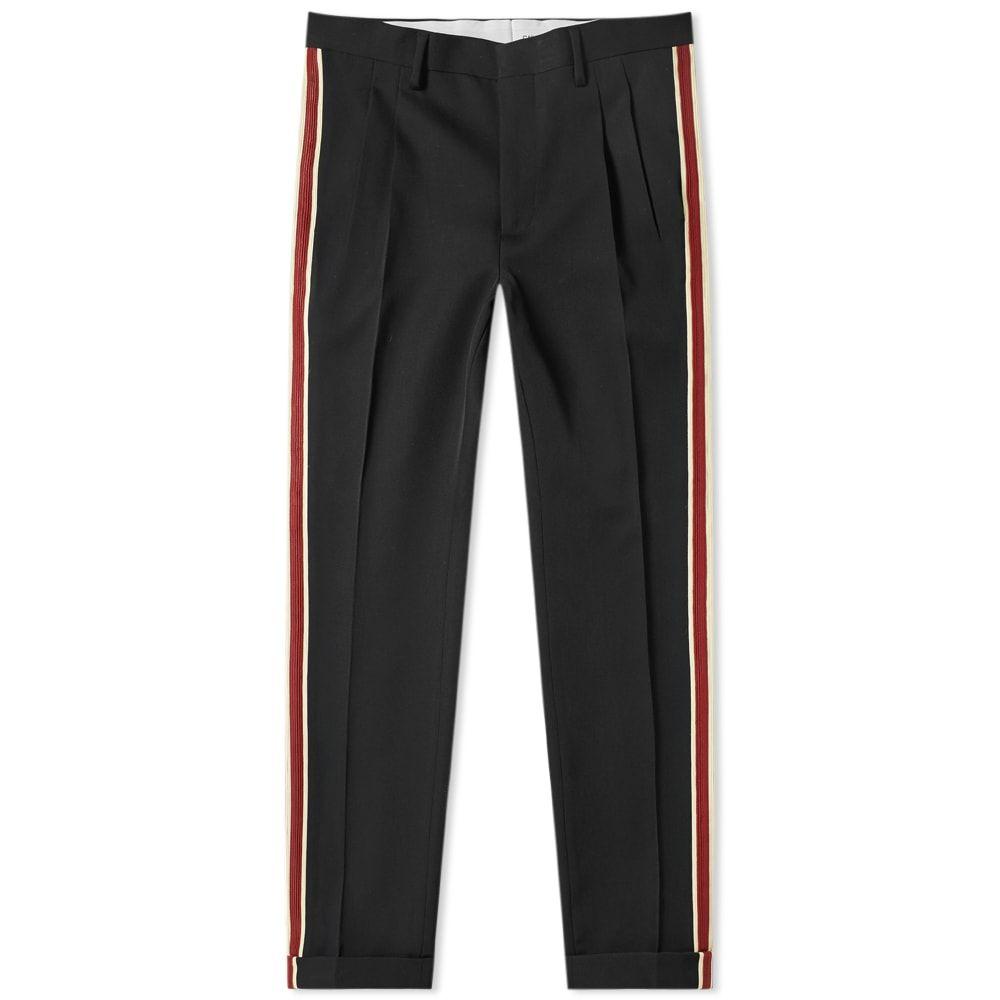 カルバンクライン Calvin Klein 205W39NYC メンズ スウェット・ジャージ ボトムス・パンツ【side stripe pant】Black/Yellow/Burgundy