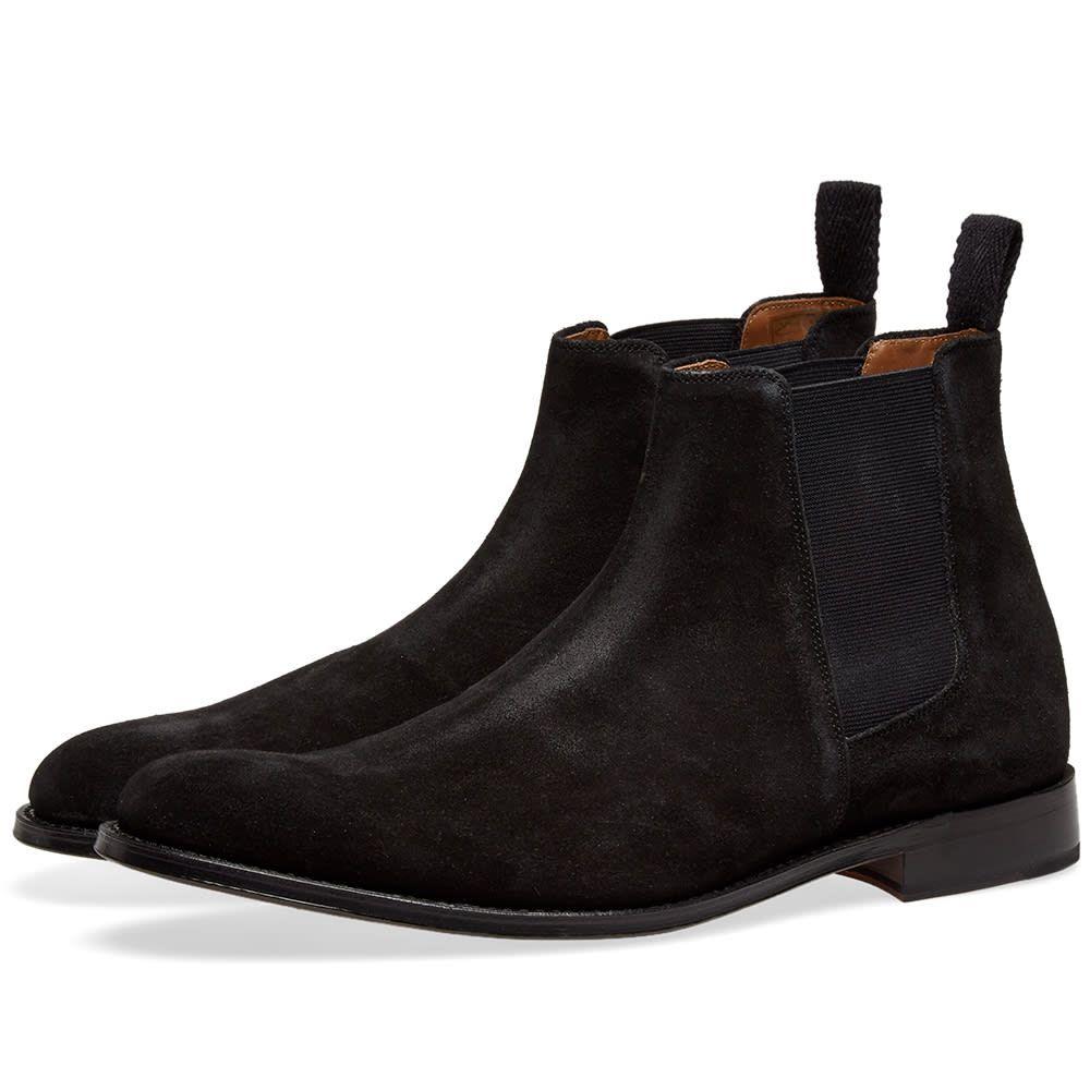 グレンソン Grenson メンズ シューズ・靴 ブーツ【Declan Chelsea Boot】Black Suede