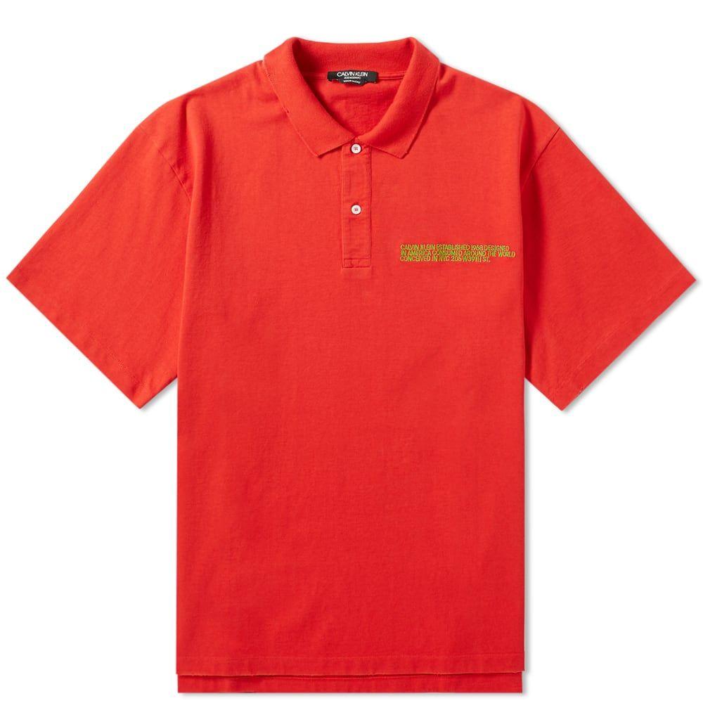 カルバンクライン Calvin Klein 205W39NYC メンズ ポロシャツ トップス【embroidered logo classic polo】Red