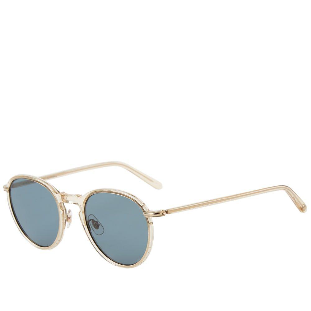 ギャレットライト Garrett Leight メンズ メガネ・サングラス【Horizon Sunglasses】Champagne/Semi-Flat Blue