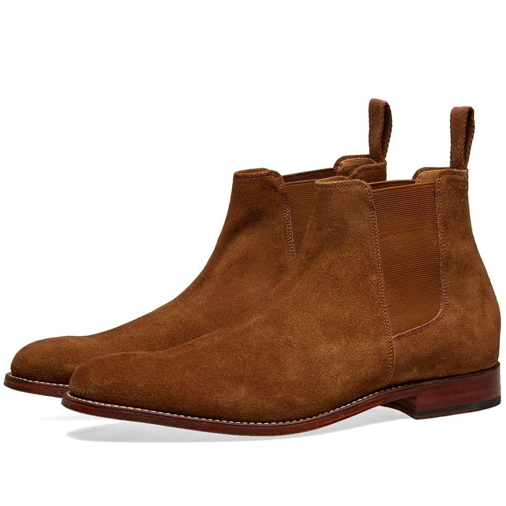 グレンソン Grenson メンズ シューズ・靴 ブーツ【Declan Chelsea Boot】Snuff Suede
