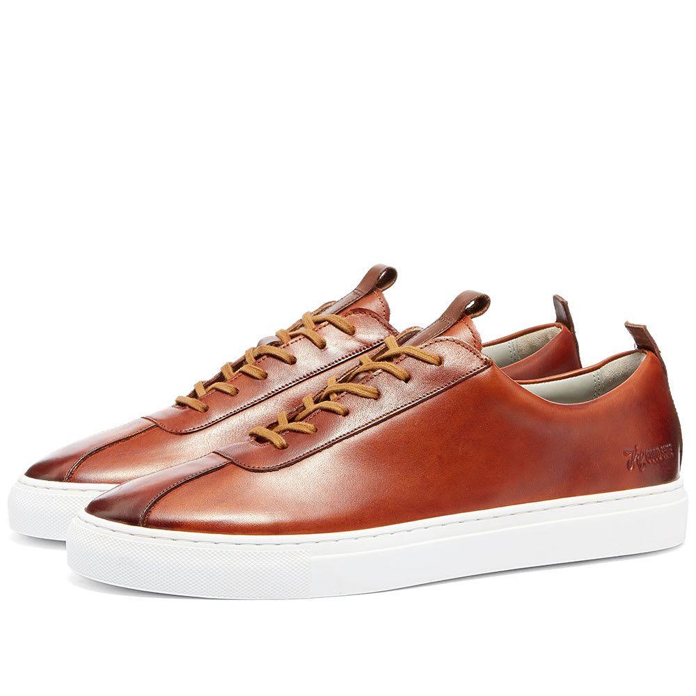 グレンソン Grenson メンズ シューズ・靴 スニーカー【Sneaker 1】Tan Hand Painted