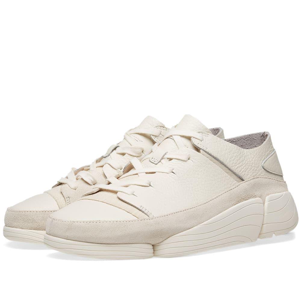 クラークス Clarks Originals メンズ スニーカー シューズ・靴【trigenic evo】White Leather