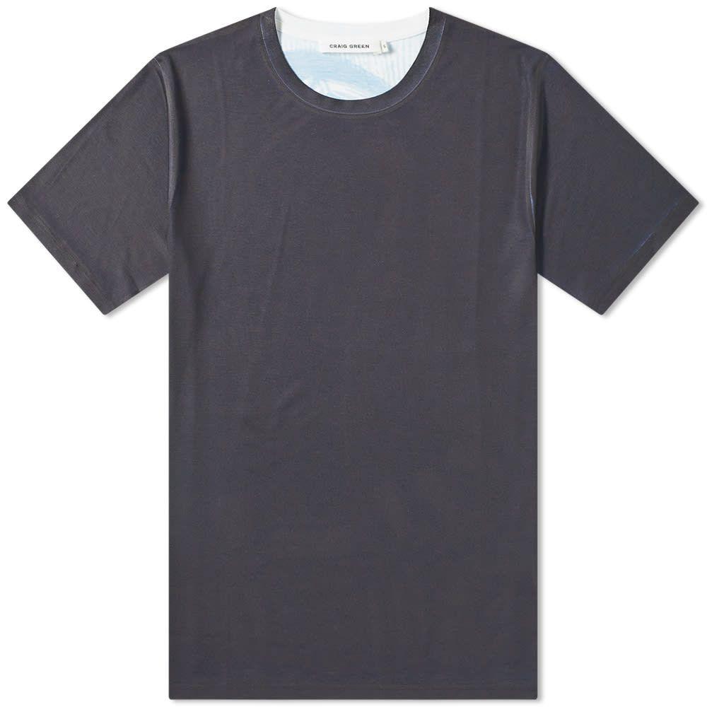 クレイググリーン Craig Green メンズ Tシャツ トップス【printed back tee】Blue