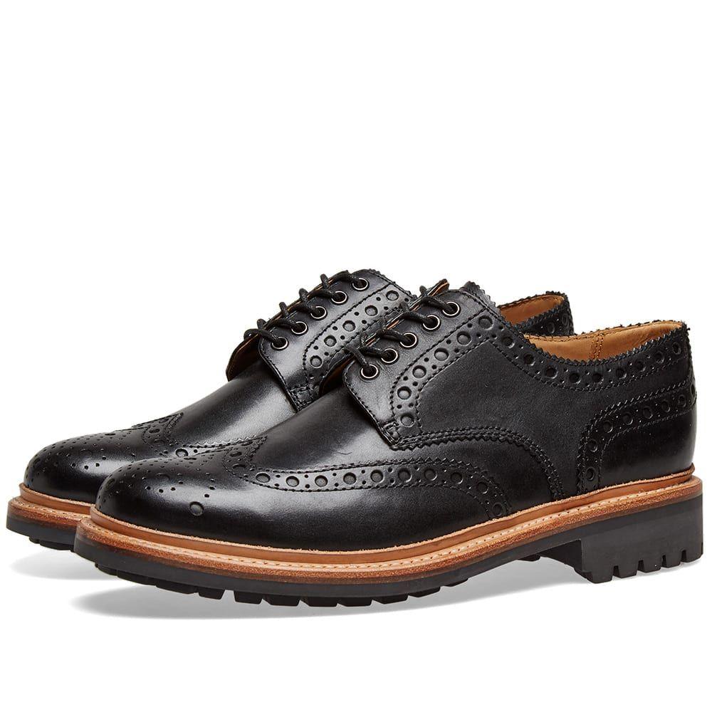 グレンソン Grenson メンズ シューズ・靴 革靴・ビジネスシューズ【Archie C Brogue】Black Calf