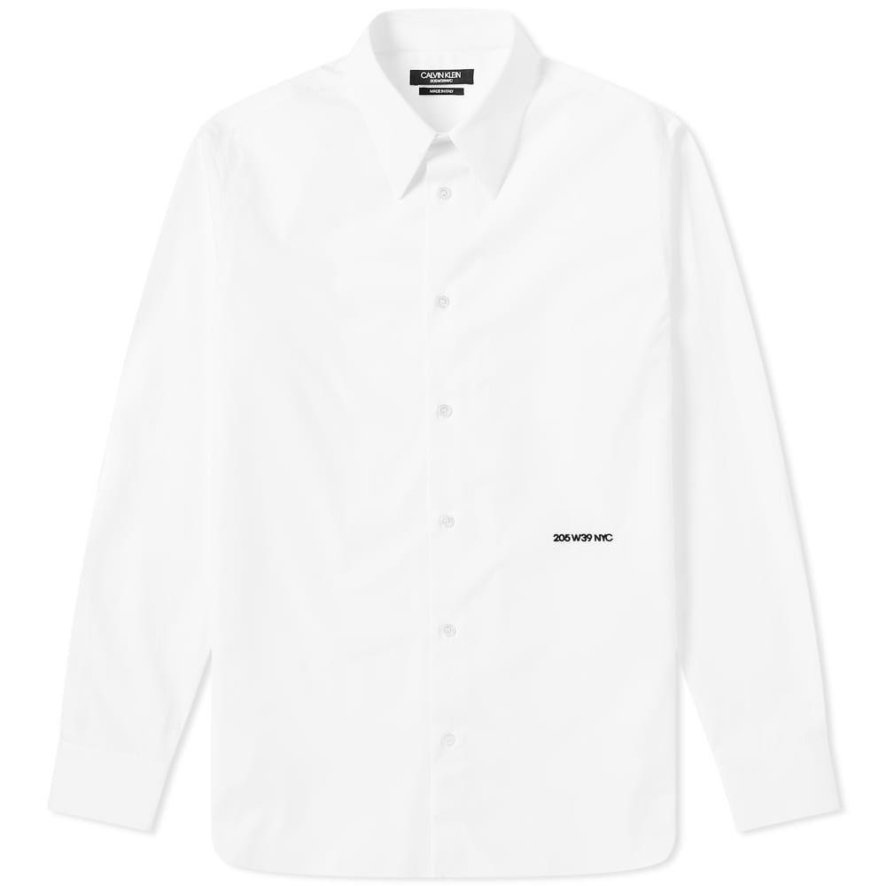 カルバンクライン Calvin Klein 205W39NYC メンズ シャツ トップス【embroidered classic shirt】Optic White