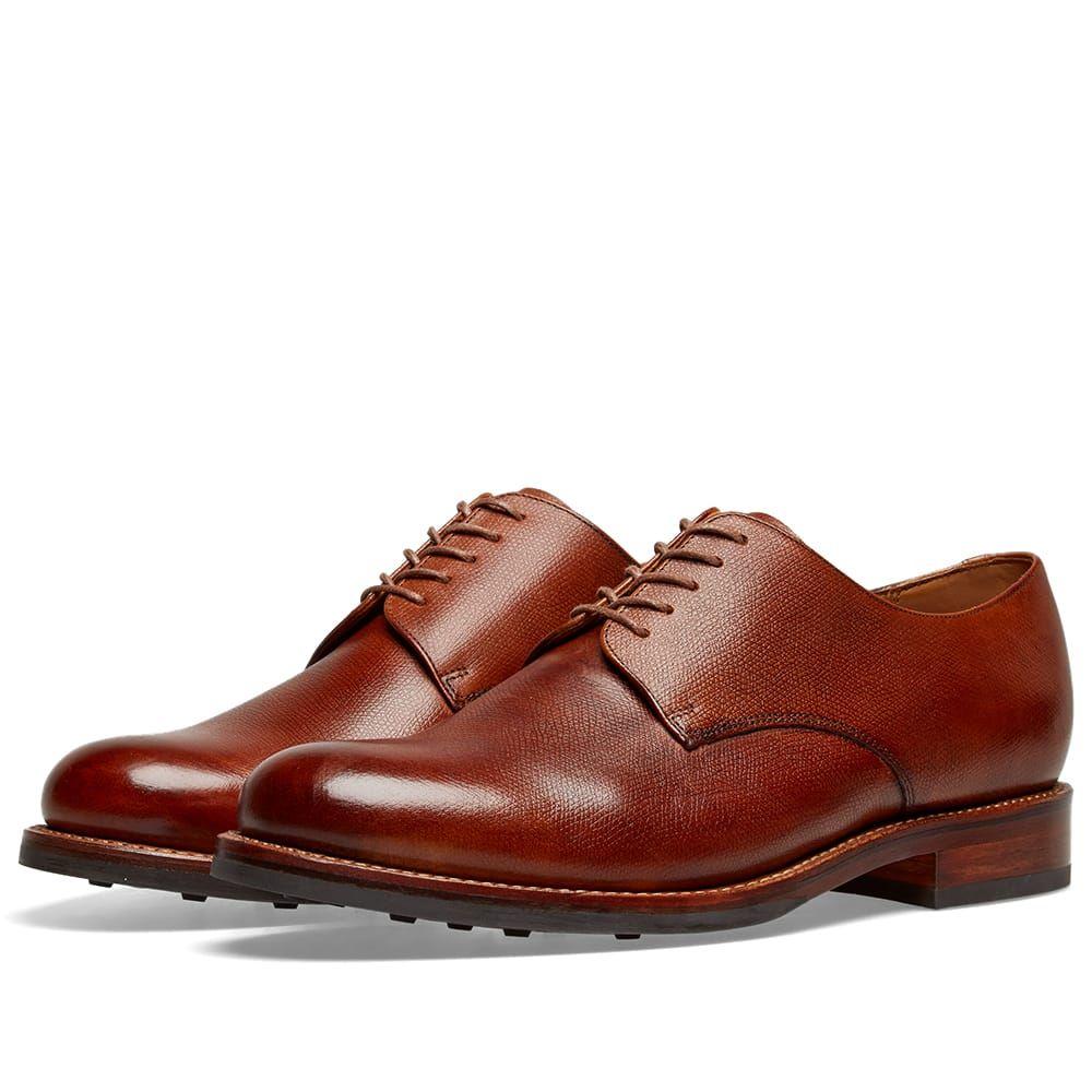 グレンソン Grenson メンズ シューズ・靴 革靴・ビジネスシューズ【Curt Dainite Sole Derby Shoe】Tan Hand Painted Grain